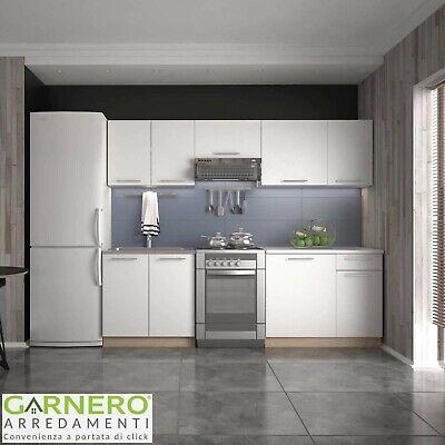 Cucina moderna bianca componibile completa URBAN standard 240 cm pensili design
