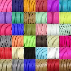 10-Metros-Cordon-Antelina-5mm-Color-A-Elegir-A120C-Panno-Klud-Tuch-Tissu-Tela