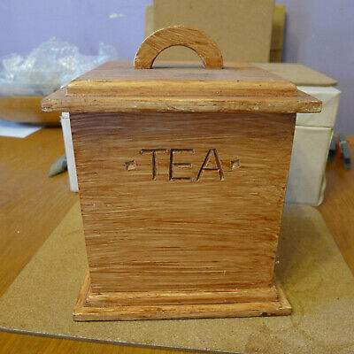 1960-70s Large Wooden Tea Caddy...Unused Condition... VGC..