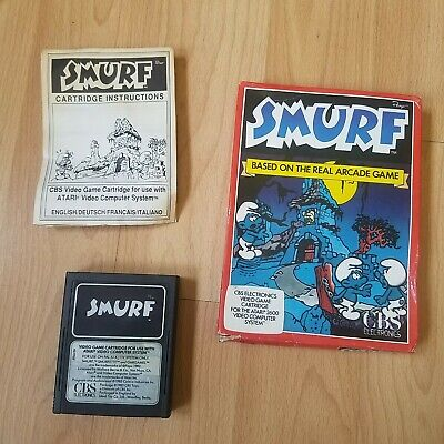 Smurf Atari 2600 VCS PAL Boxed & Instructions Tested CNBS Smurfs