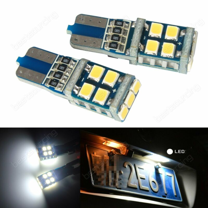 2x T10 501 194 W5W Wedge 11 LED Bulb Interior Number Plate Side Light DRL Canbus