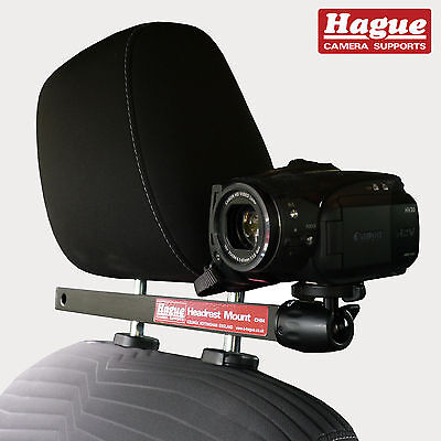 Hague Video Camera Car Headrest Mount suitable for GoPro Camcorders & more (CHM)