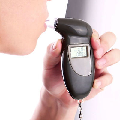 Digital Alcohol Breath Tester Breathalyzer Analyzer Detector Test Keychain FI