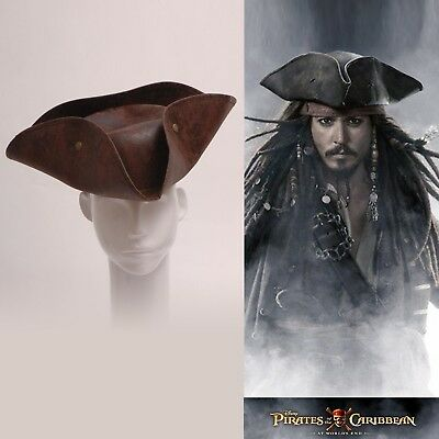 von Pirates of the Caribbean Jack Sparrow´s braun Hut für Cosplay Fasching ()