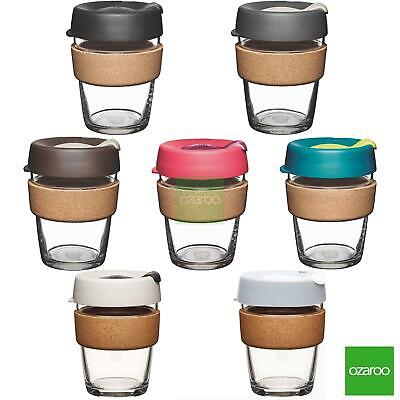 KeepCup Changemakers Brew Reusuable Glass Coffee Cup Travel Mug with Cork Band