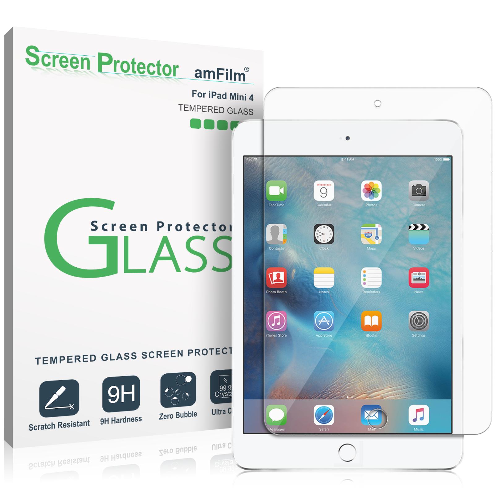 apple ipad mini 4 premium tempered glass screen protector 1 pack rh ebay com iPad iOS 5.1 Home Screen iPad Software Update