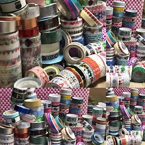 40 Pcs Roll Lots DIY Self Adhesive Glitter Mixed Washi Masking Tape Craft Decor
