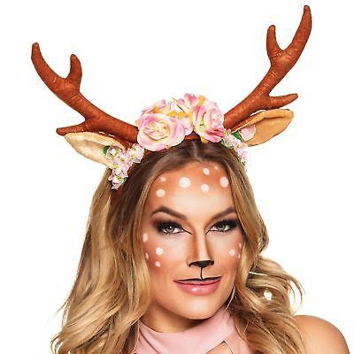 - Adult Fawn Fest Reindeer Deer Phone Camera Filter Floral Flower Antler Headband