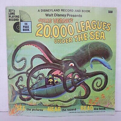 Vintage Walt Disney 20,000 Leagues Under the Sea, Disneyland Book and Record Set