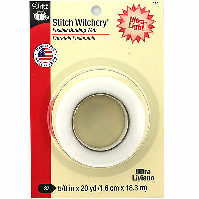 Bond Fusible Web - Dritz Stitch Witchery Fusible Bonding Web-Ultra Light  5/8
