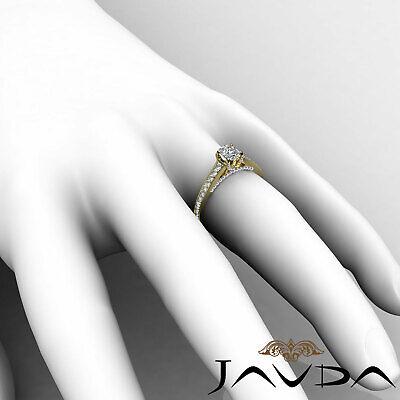 Bridge Accent Micro Pave Set Cushion Diamond Engagement Ring GIA H VS1 1.25 Ct 6