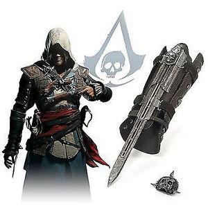 Cosplay Halloween Assassins Creed 4 Black Flag Pirate Hidden Blade Gauntlet
