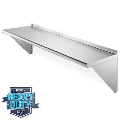 Open Box - Nsf Stainless Steel 12x48 Wall Shelf 16ga Restaurant Shelving