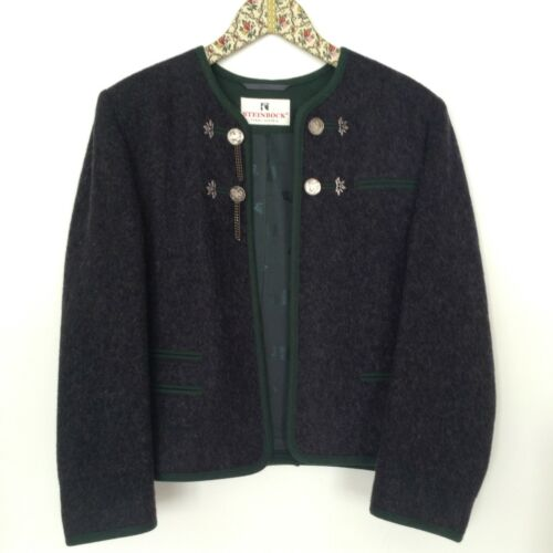 Tyrol Style Traditional Ladies German Austria Jacket - Wool/Cashmere - 12(US)
