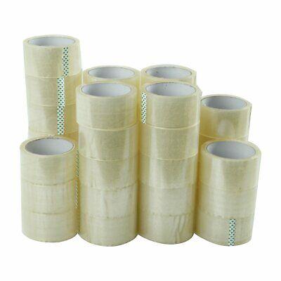 36 Rolls Carton Sealing Clear Packing Tape Box Shipping - 2 Mil 2 X 55 Yards