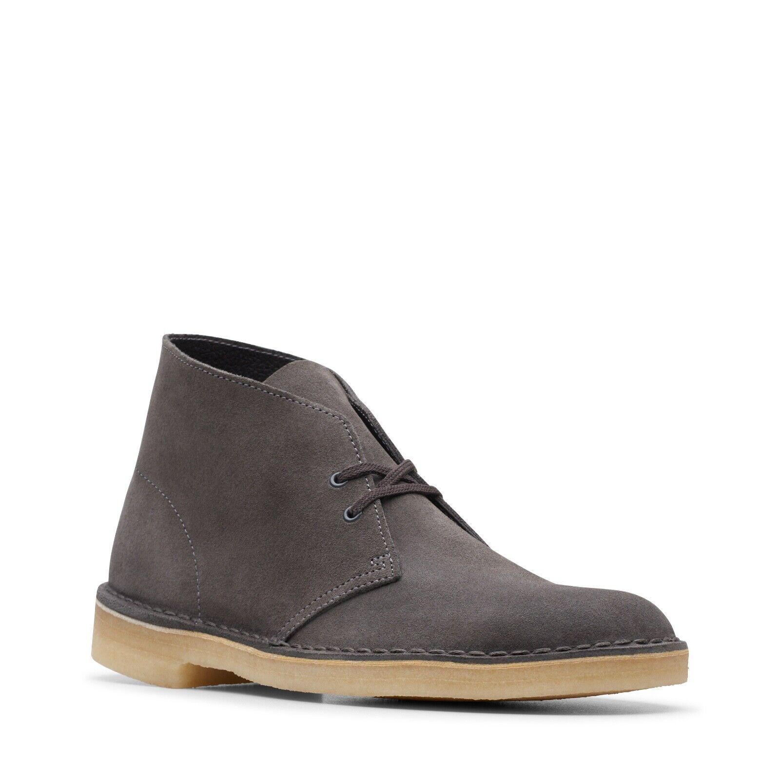 Clarks Originals Men's Desert Boots Slate Grey Suede 26144232