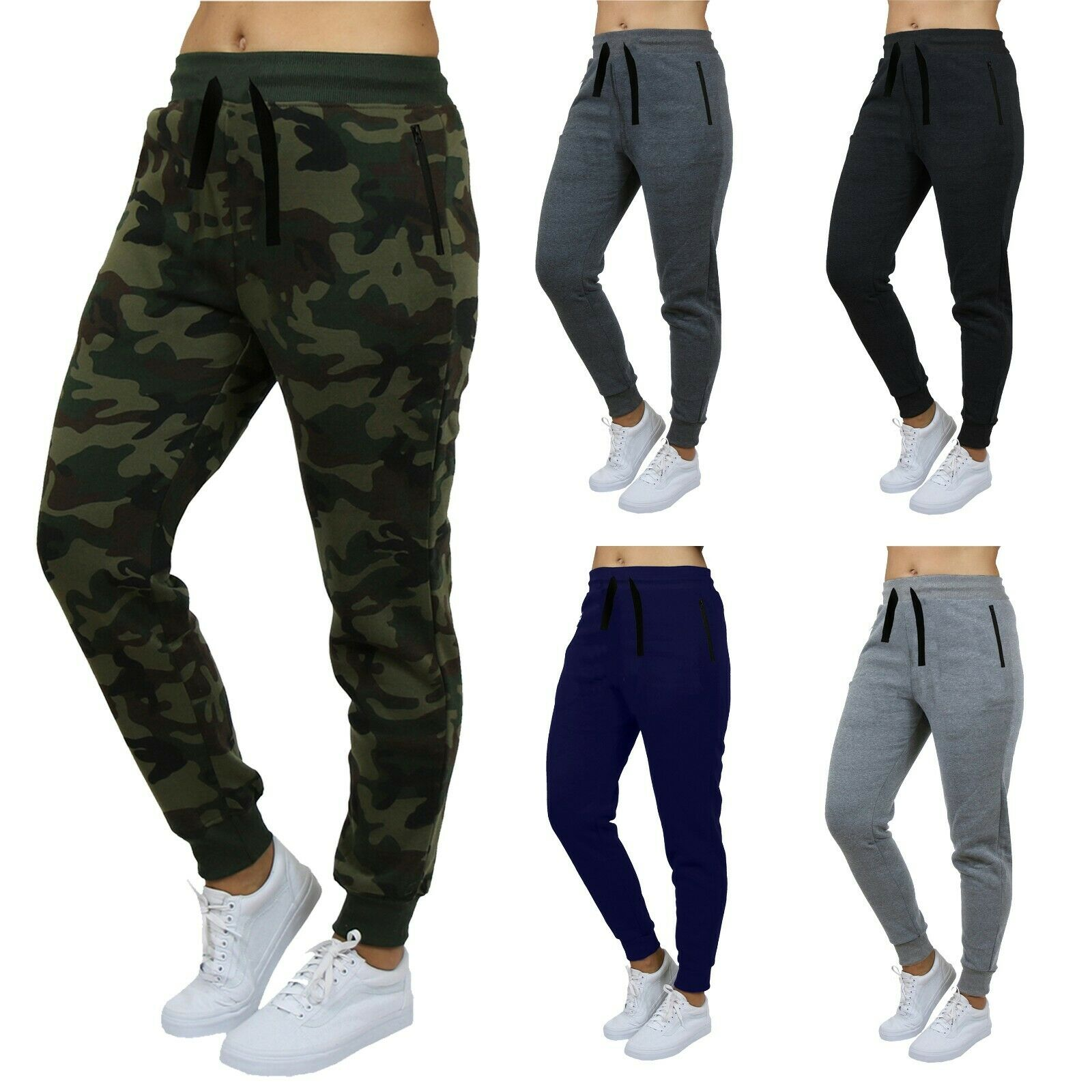 Womens Loose Fit French Terry Jogger Sweatpants Lounge Gym S