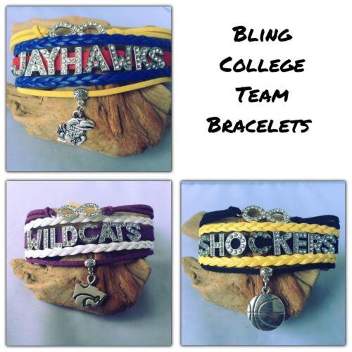 *BLING*  College Football Team Sports Fan Shop Infinity Brac