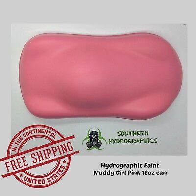 Hydrographic Film Hydro Dip Kit Paint Base Coat 16oz Aerosol Muddy Girl Pink