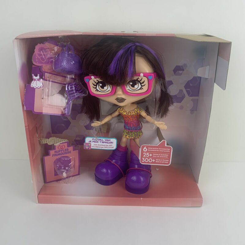 Chatsters ABBY Brown & Purple Hair Interactive Doll with Accessories