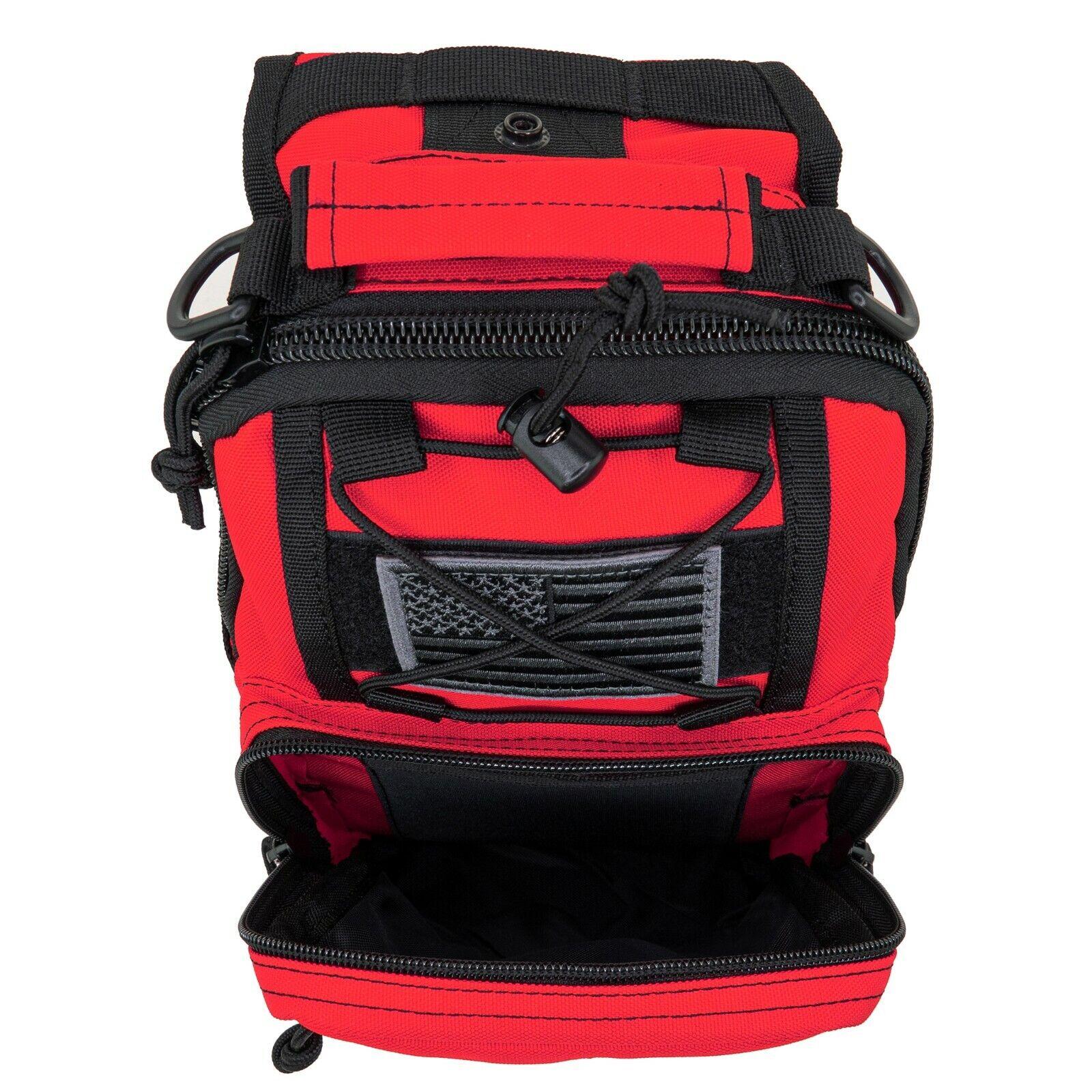 NEW LINE2DESIGN FIRST AID SLING BACKPACK - EMS EMERGENCY MEDICAL MOLLE BAG - RED
