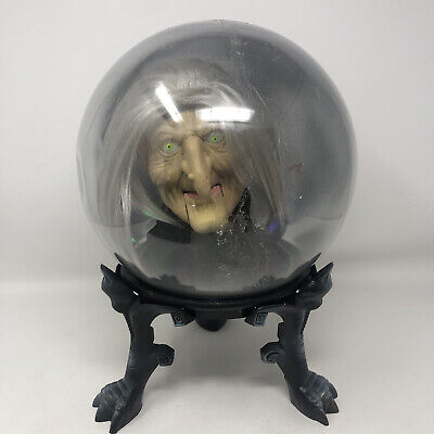 "Gemmy 14"" Witch Spirit Ball Working No Adapter Motion Activated Halloween Prop"
