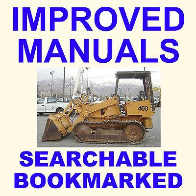 Case 450 Backhoe Bulldozer Crawler Tractor Service Repair Manual - Searchable Cd