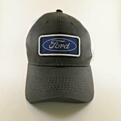 Ford Trucker Hat Dark Brown White Blue Logo Snap Adjustment Official Licensed
