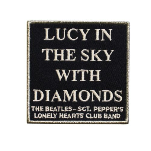 The Beatles Lucy In The Sky With Diamonds Embroidered Sew On Patch - 075-F