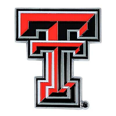 Fanmats NCAA Texas Tech Red Raiders Diecast 3D Color Emblem Car Truck RV Texas Tech Colors