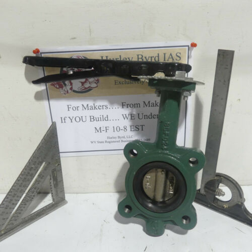 "2 1/2"" Crane Center Line Series 200 Lug Style Butterfly Valve with Handle"