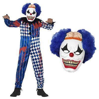 Kinder Jungen Sinister Zirkus Clown Gruselig Eva Maske Halloween Karneval Kostüm ()