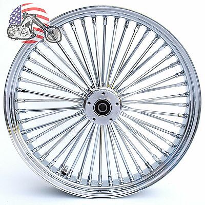 Ultima Chrome 21 3.5 48 Fat King Spoke Front Wheel Rim Harley Touring Dual Disc