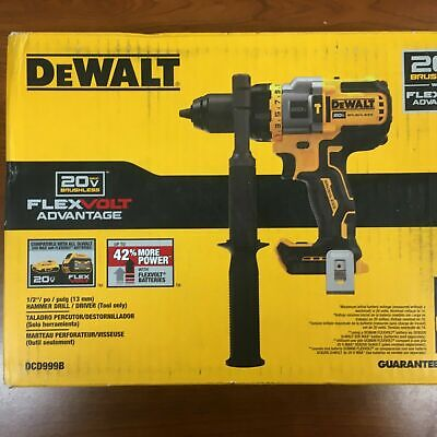 New Dewalt Dcd999b 20v Max Flex Volt 12 In. Hammer Drill Driver Qik Ship