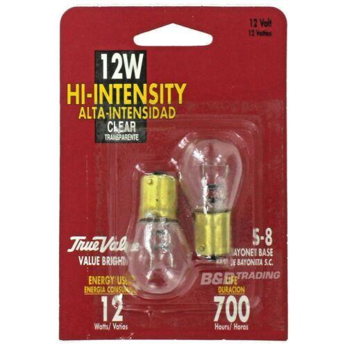 2-Pack 12S8/93T/CD 12-Watt High Intensity Light S8 Bulbs S.C. Bayonet Base