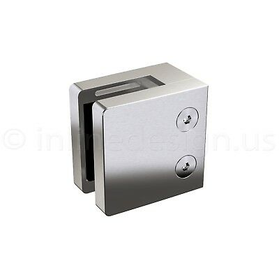 Stainless Steel Square Glass Clamp for Flat covid 19 (Steel Square Glass Clamp coronavirus)
