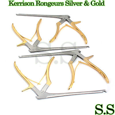 Kerrison Rongeurs Silver Gold 1 2 3 4mm Cervical Orthopedic Surgical