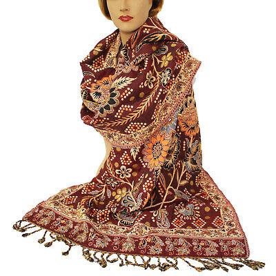 Schal Damenschal warm  Classic Stil Langschal Orient Jamawar 200x70cm Viskose 55 Classic Schal