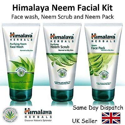 HIMALAYA HERBALS - NEEM FACIAL KIT - Face Wash & Neem Scrub & Neem Pack - 150ml