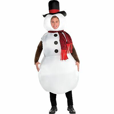 inflatable snowman costume for adults standard