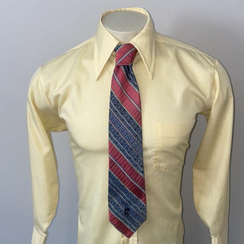 Vtg 60s 70s Mens Necktie Countess Mara Tie Striped Polyester Midcentury Disco