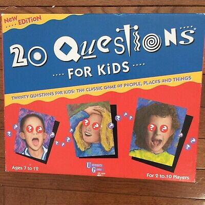 20 Questions Kids Board Game (Vintage 20 QUESTIONS FOR KIDS BOARD GAME EDUCATIONAL )