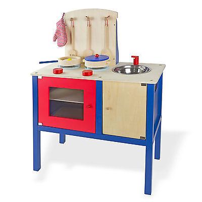 917666 Holz Kinderküche mit Zubehör Spielküche Küchencenter Küche NEU 12299