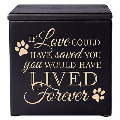 - Cremation Urn For Pet Ashes Small Wooden Dog Cat  Memorial Keepsake Box