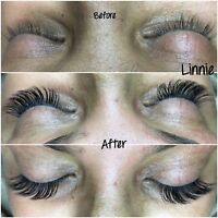 Classic singles, hybrid and Russian volume lashes from $75