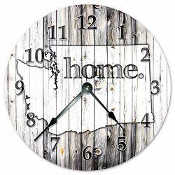 WASHINGTON RUSTIC HOME STATE CLOCK - Large 10.5 Wall Clock - 2257