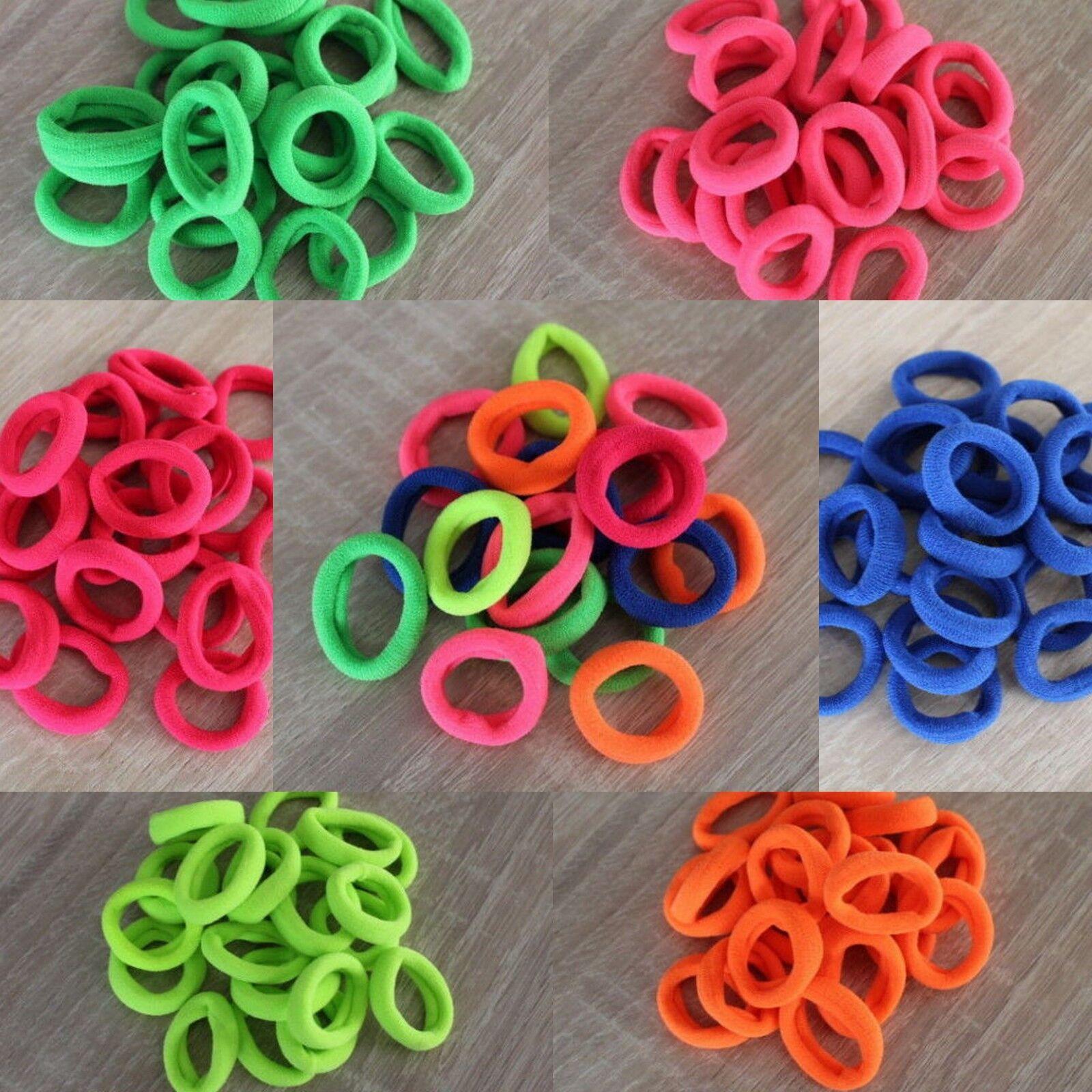 20x Haargummi ø 2,5 cm Neonfarben Kinder Farbwahl Zopf Haarband Frisur