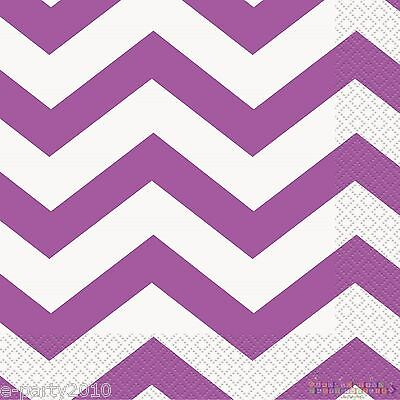 Chevron Party Supplies (PURPLE LAVENDER CHEVRON LUNCH NAPKINS (16) ~ Baby Shower Birthday Party Supplies)