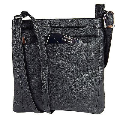Damentasche Schultertasche Umhängetasche Beutel Freizeit-shopper 3966 Schwarz 1