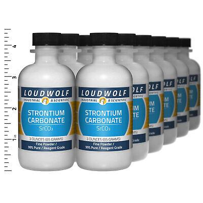 Strontium Carbonate 2.3 Lb Total 12 Bottles Reagent Grade Fine Powder